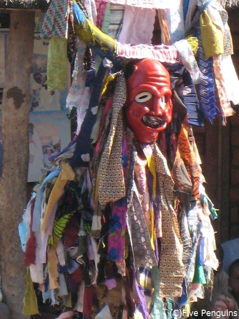 チェワ族の仮面の踊り