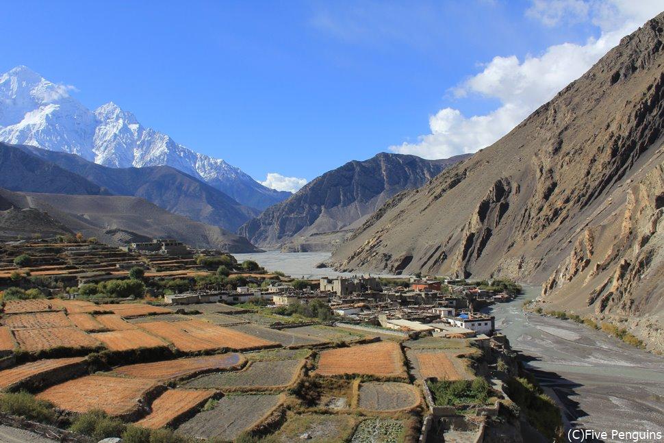 ジョムソンから聖地ムクティナートへの道(ネパール)