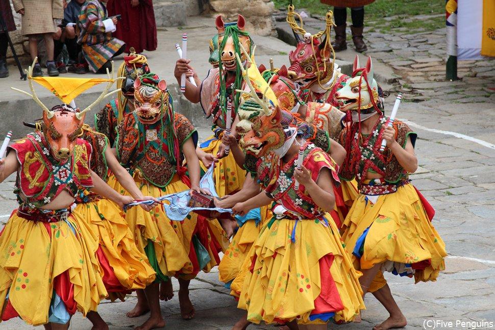 ツェチェの祭り(ブムタン/ブータン)