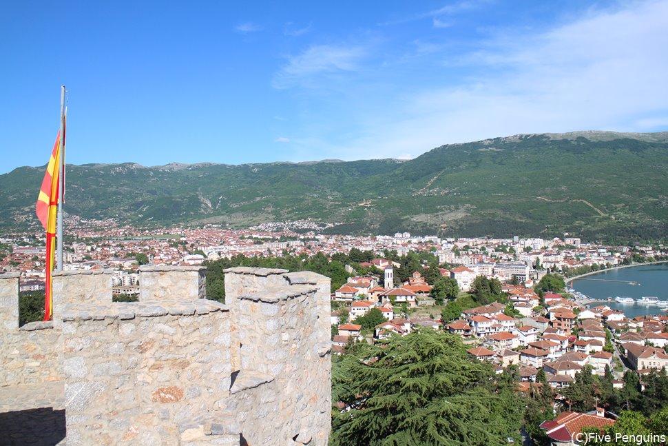 サミュエル要塞からのオフリド旧市街