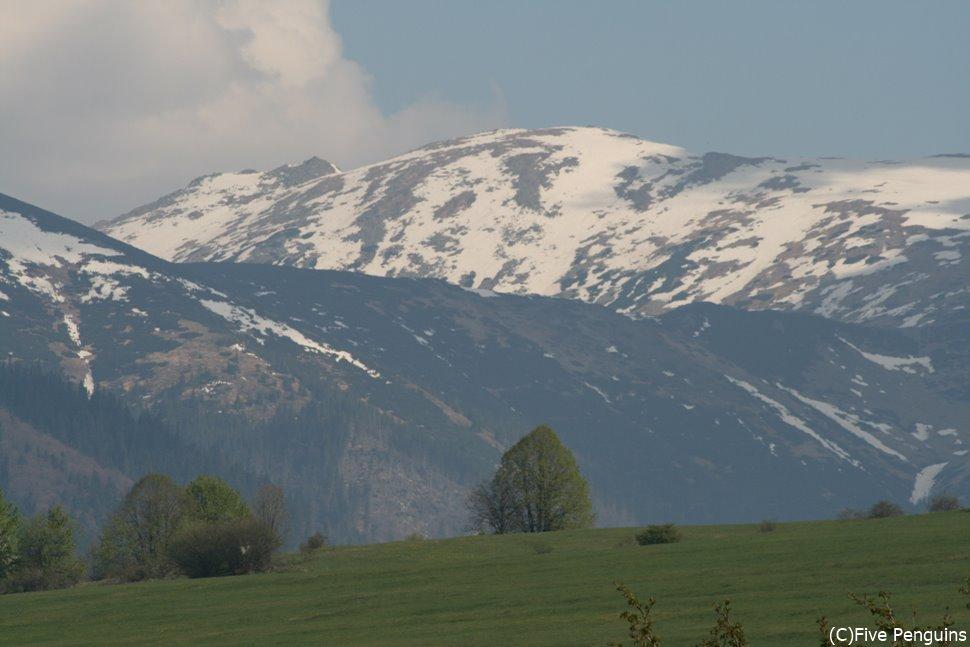 タトリ山地の遠景(スロバキア)