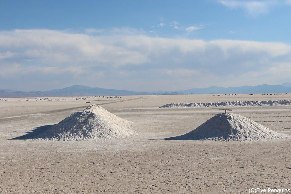 南米で三番目に大きな塩湖サリーナス・グランデス<サリーナス・グランデス>