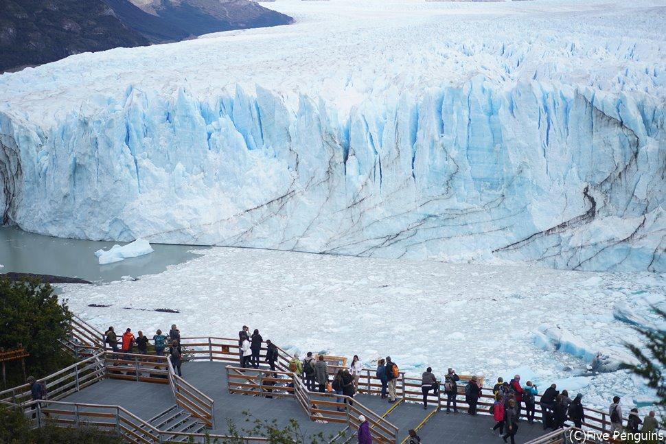 展望台からみたペリト・モレノ氷河<カラファテ>