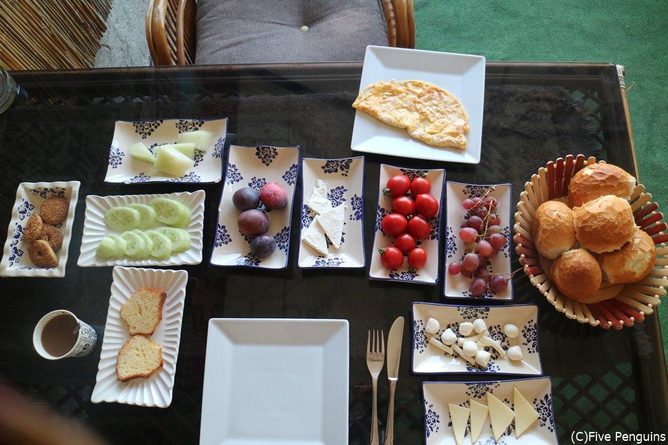 ホテル自慢の朝食