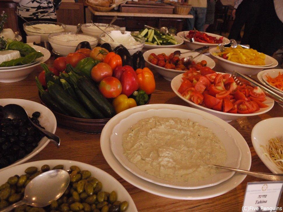 イスラエルでの朝食風景