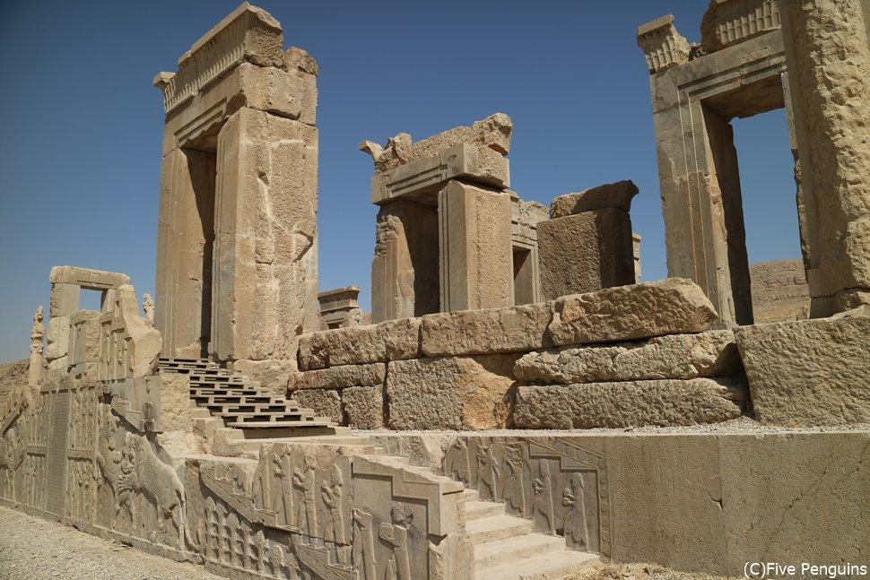 ペルセポリス ダレイオス1世の宮殿タチャラ