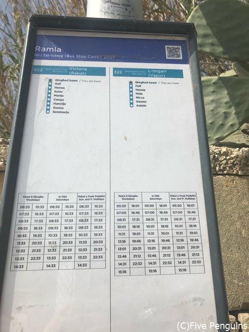本数が少ない場所もあるので、時刻表の確認が大切。