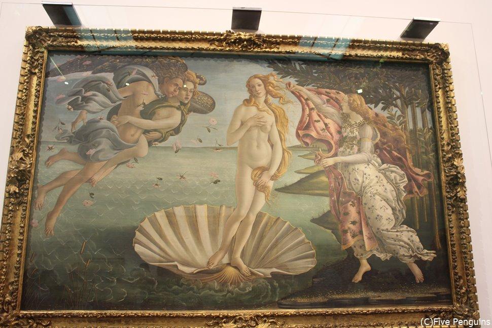 フィレンツェのウッフィツィ美術館 「ヴィーナス誕生」