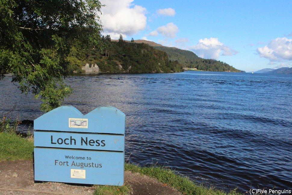 ネス湖の可愛い看板発見