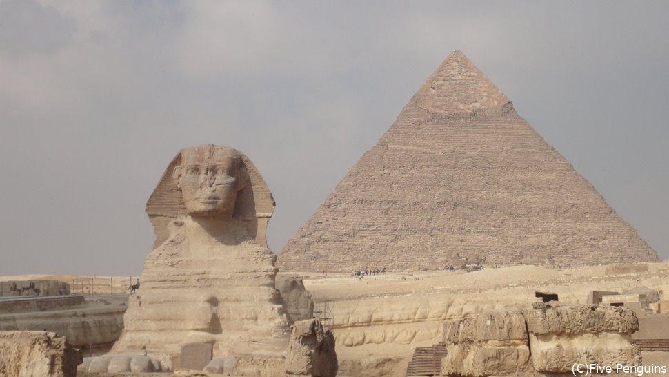 エジプト言えばピラミッドとスフィンクス