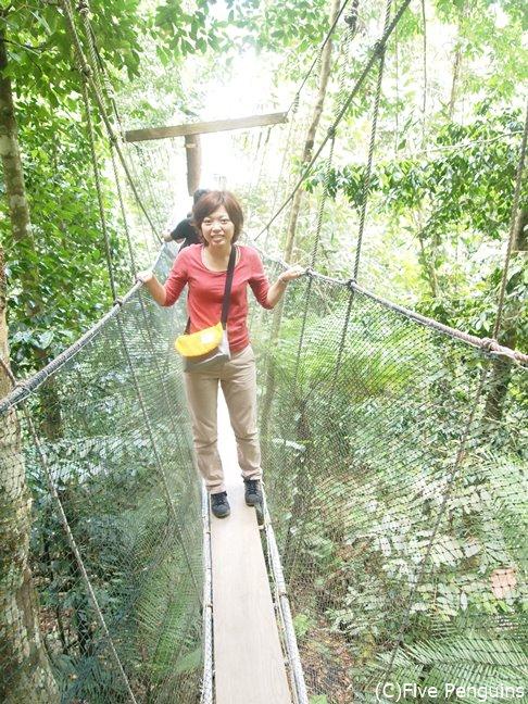 温泉の前に、スリリングな吊り橋で一汗かこう!!