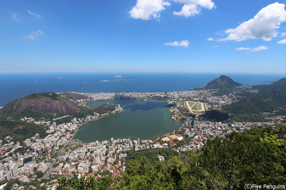 コルコバードの丘から見たリオの街
