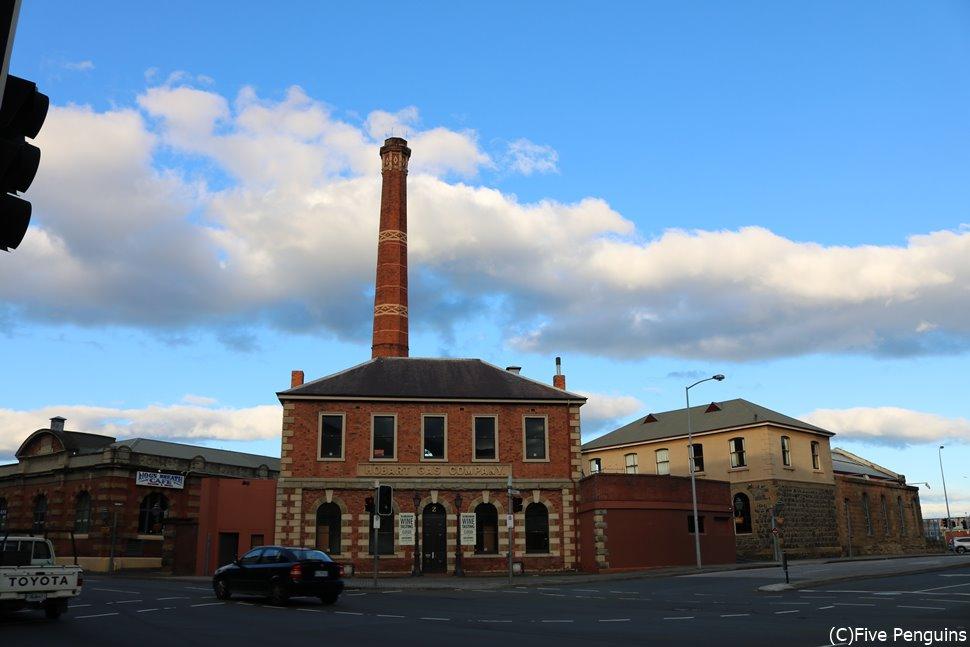 歴史的な建物が多いホバートの街並み