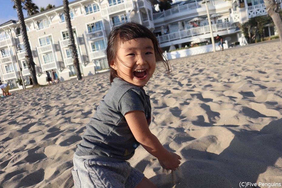 ホテルの目の前がビーチだといつでも遊べてうれしい♥