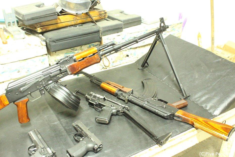 様々な銃があるので、いろいろお試しが可能です。