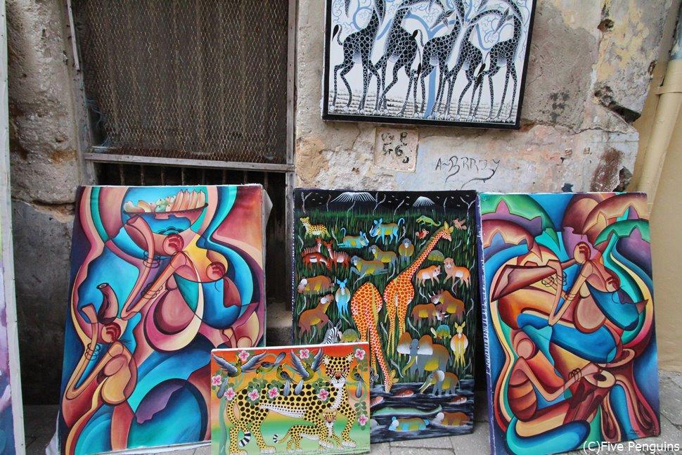ストーンタウンで売られていたアフリカンアート