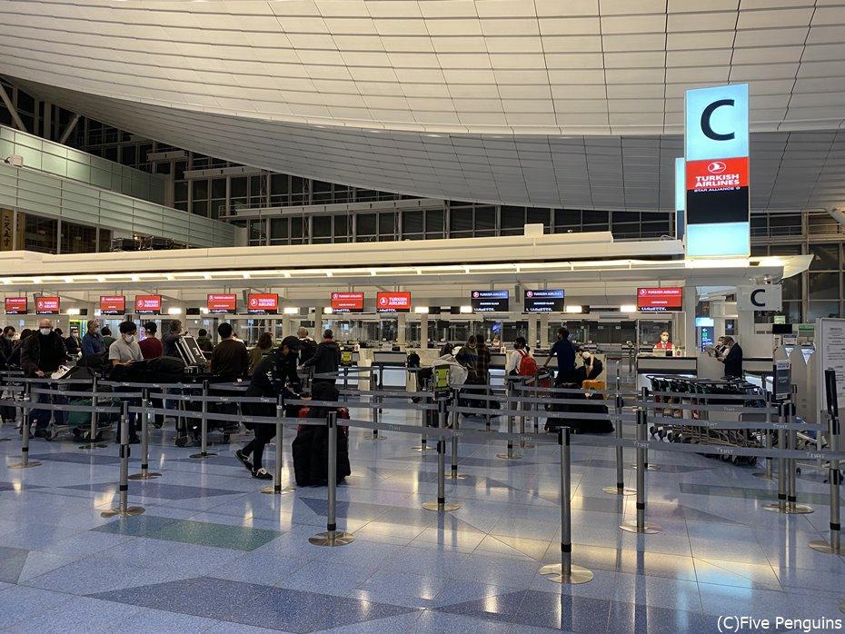 羽田空港のターキッシュエアラインズカウンター