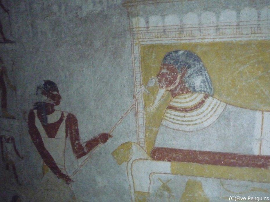 タハルカ王妃の玄室の壁画「王妃復活」<スーダン>