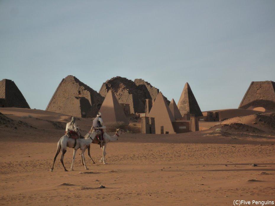 メロエの王族墳墓のピラミッド群<スーダン>