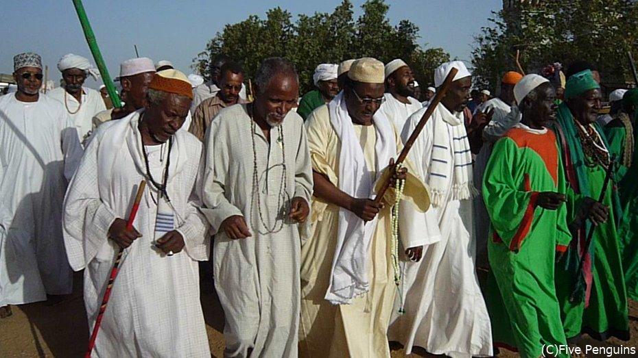 ハマデルニールモスクで行われる宗教行事<スーダン>