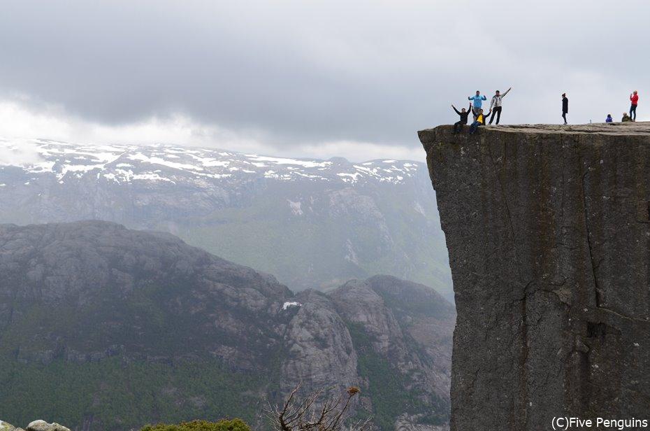 断崖絶壁のプレーケストーレン
