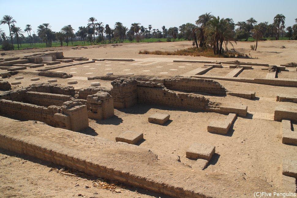 テル・エル・アマルナ遺跡の宮殿跡