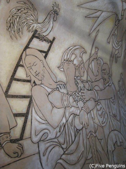コクトーの壁画が有名なサンピエール礼拝堂
