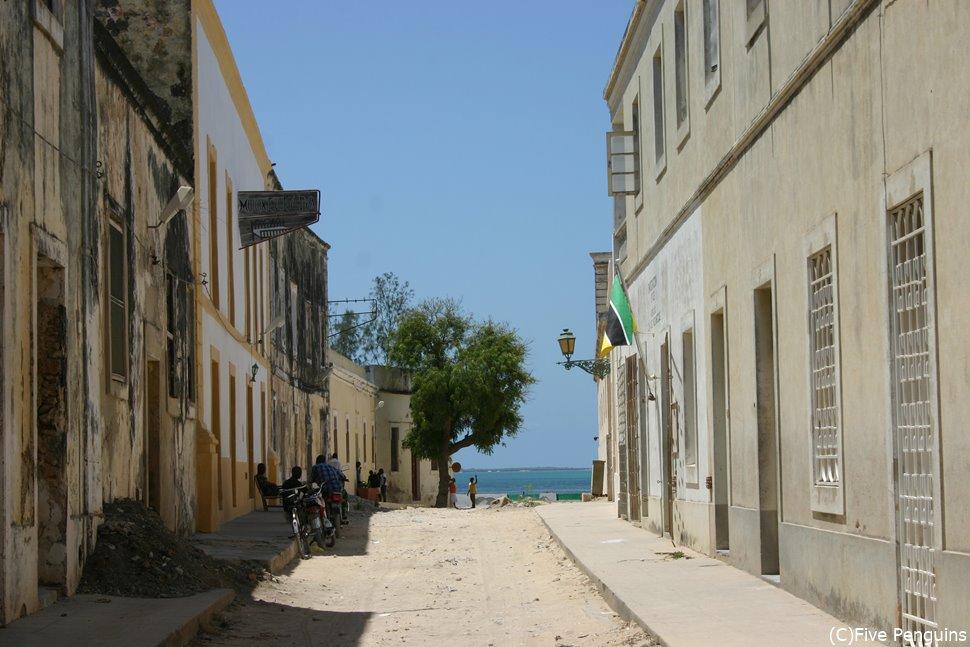 モザンビーク島のコロニアルな町並み