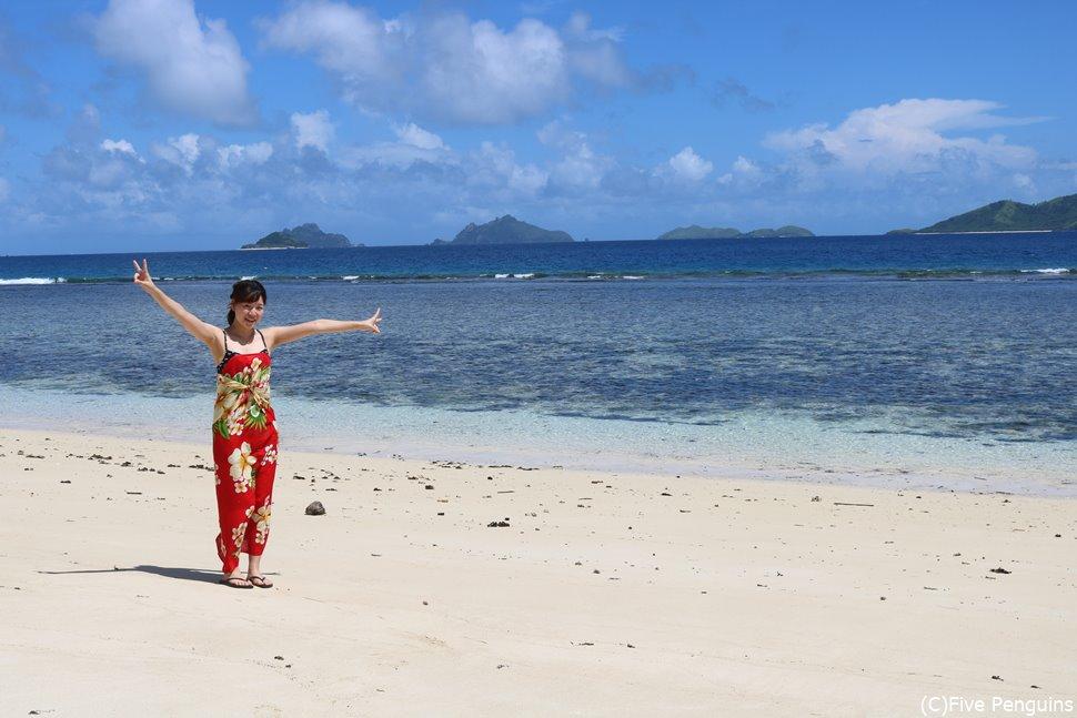マナ島のビーチを独り占め!!