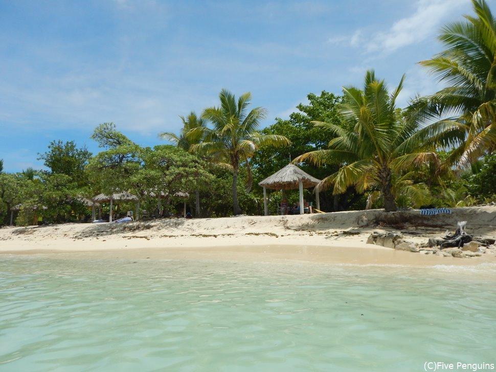 ティビュア島のビーチ
