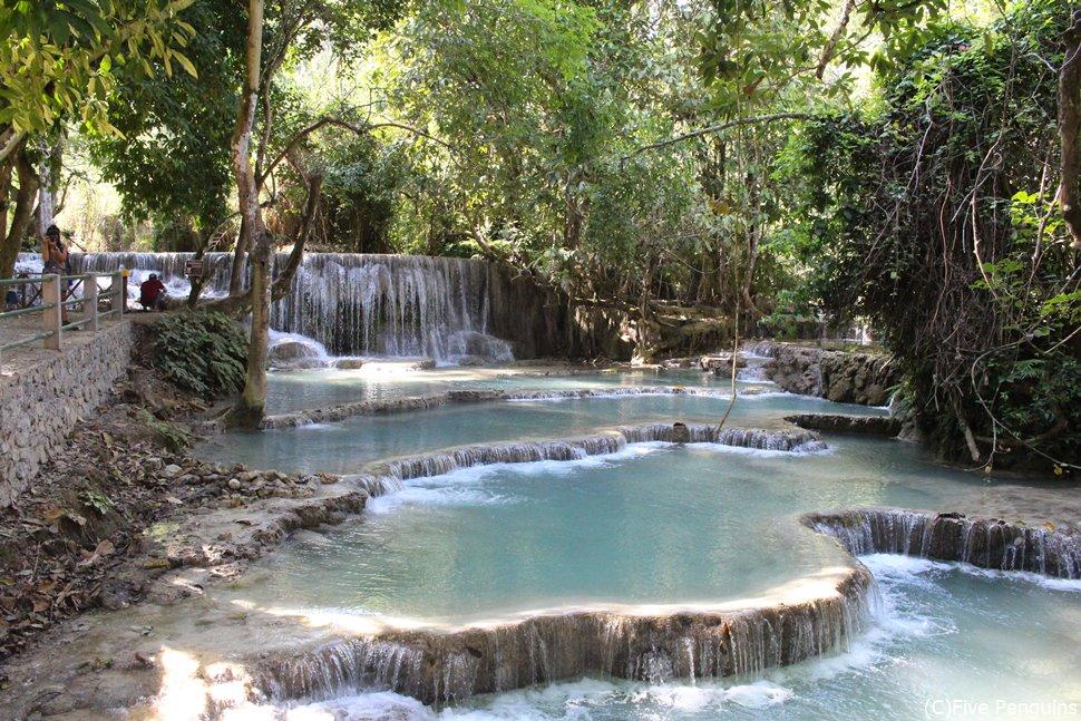 ルアンパバーン郊外にあるクアンシー滝。水着があれば入ることも可能!