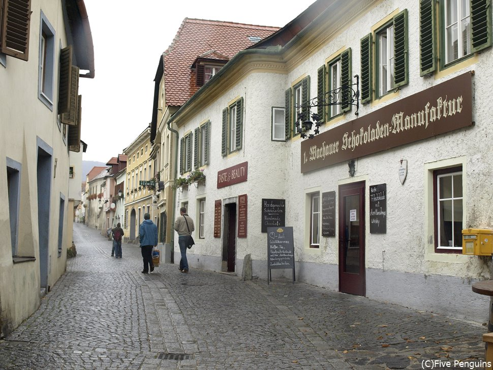 ドナウ川に面した小さな小さな町デュルンシュタイン