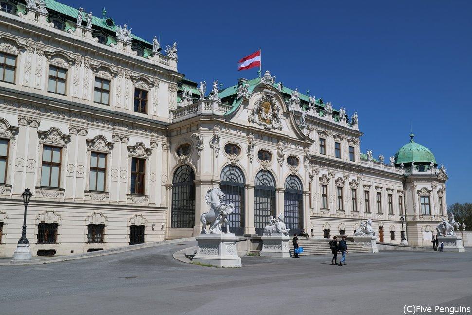 ベルヴェデーレ宮殿はウィーンでの必見訪問箇所の1つ