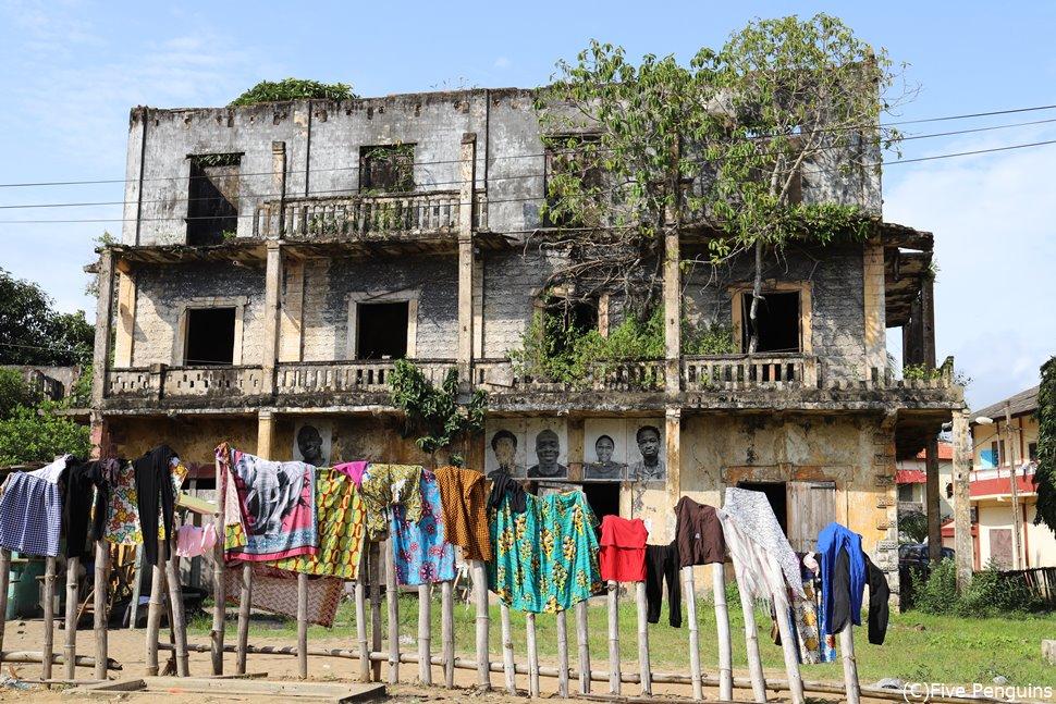 コートジボワールの世界遺産で4つあるうちのひとつがグランバッサム歴史地区