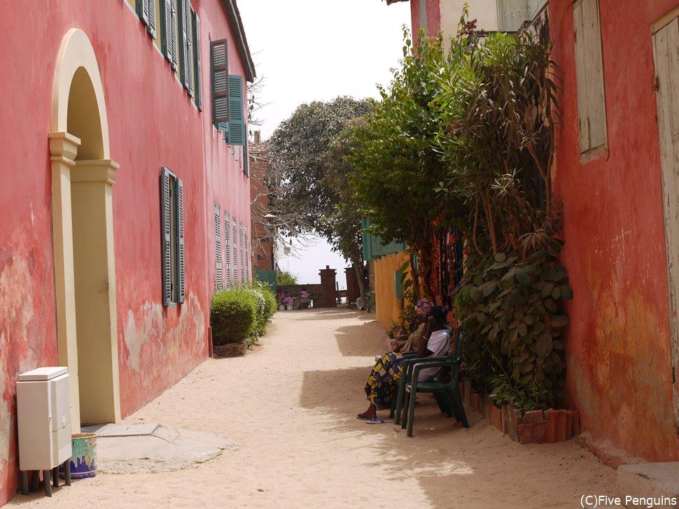 ゴレ島の町並
