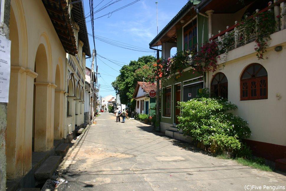 ゴールの旧市街。どこかヨーロッパの田舎町のような雰囲気を感じます。