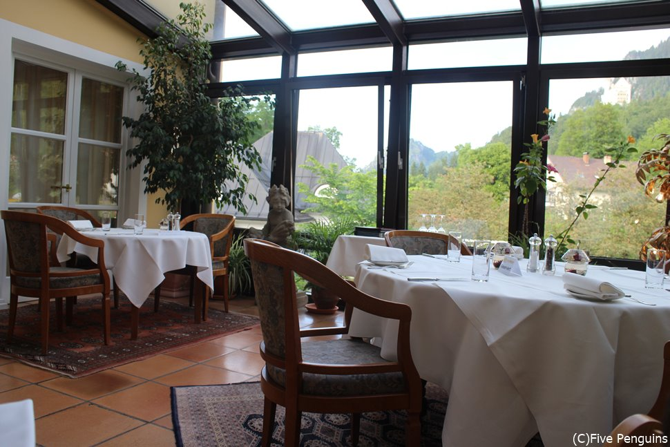 ロマンティックな雰囲気のホテル・ミュラーのレストラン