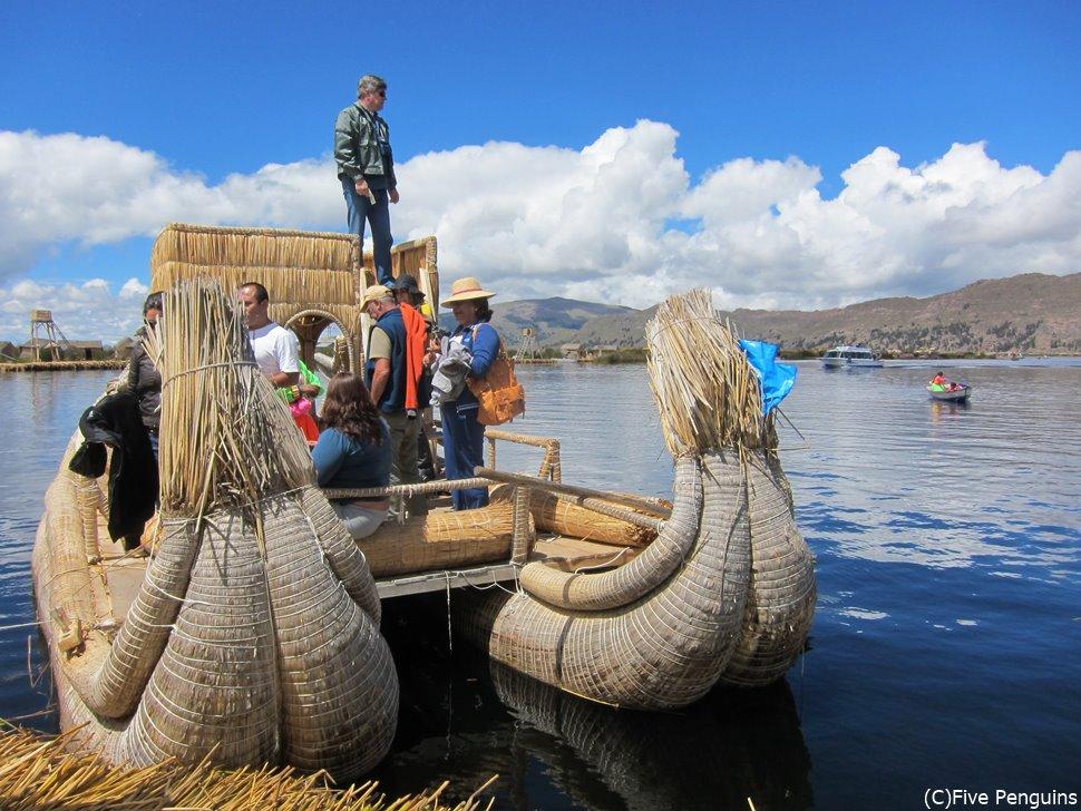 船も葦で作られています!