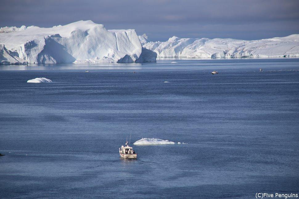 ホテルにいながらにして氷河や氷塊が目の前に!!