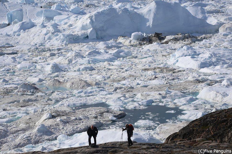 ハイキングで大氷河の絶景が見渡せる展望台へ