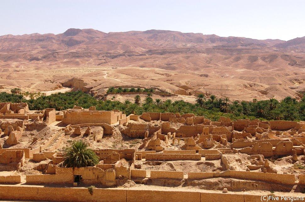 タメルザの旧村(タメルザ峡谷/チュニジア)
