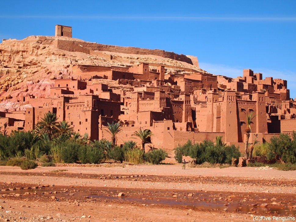 世界遺産のアイト・ベン・ハッドゥのカスバ(モロッコ)