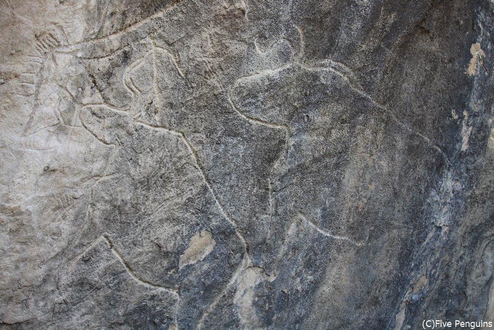 古代人が描いた岩絵 ゴブスタン遺跡
