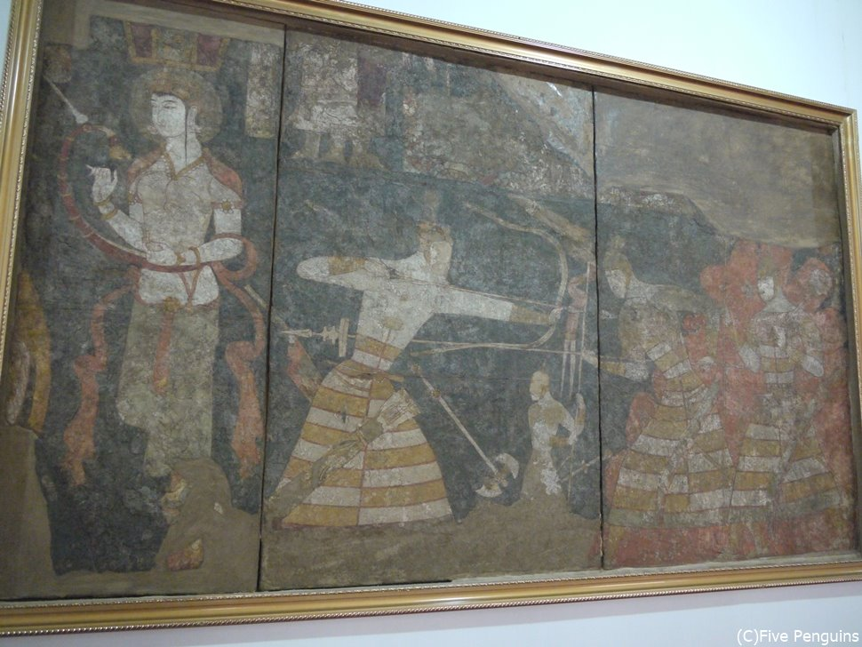 タジキスタン総合博物館 ソグド人の壁画
