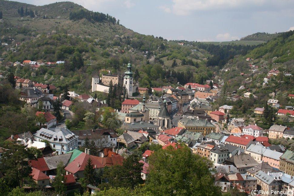 世界遺産のバンスカー・シュティアヴニツァ(スロバキア)