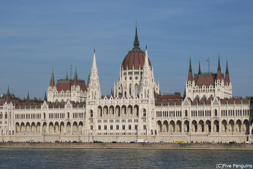 ドナウ川と国会議事堂(ブダペスト)
